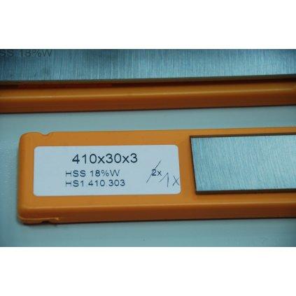 Nóż do strugarki/grubościówki HSS 18% 410x30x3