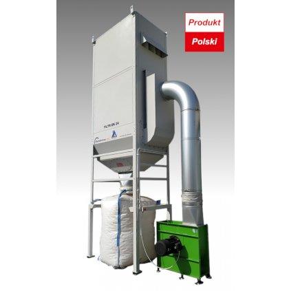 Filtr EK24, odciąg trocin o wydajności 9000m3/h