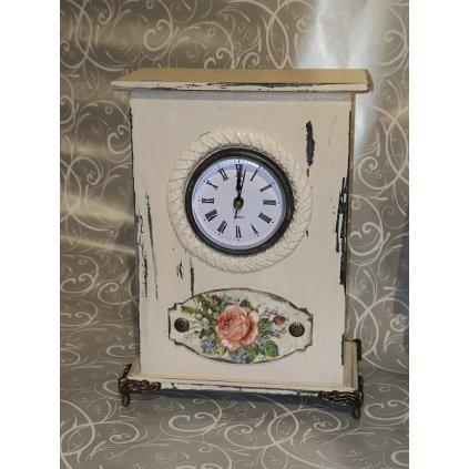 Zegar, zegarek stojący, NOWY, decoupage i mixmedia