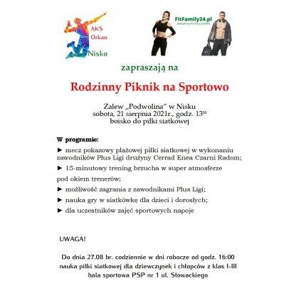 Rodzinny Piknik na Sportowo - Zalew Podwolina