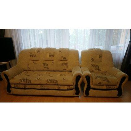 Kanapa 3os z fotelem