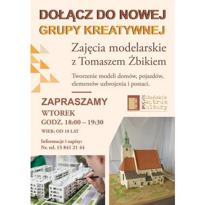 Zajęcia modelarskie z Tomaszem Żbikiem - Grupa Kreatywna - NCK Nisko